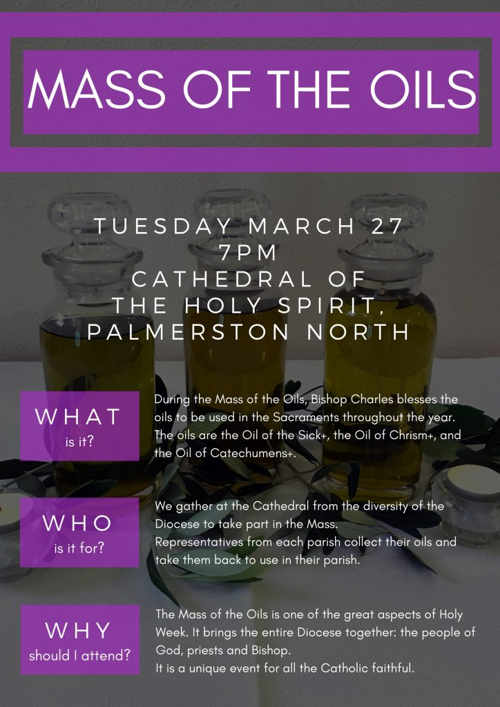 Mass of the Oils 2018 | Diocese of Palmerston North